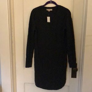 Loft charcoal grey sweater dress